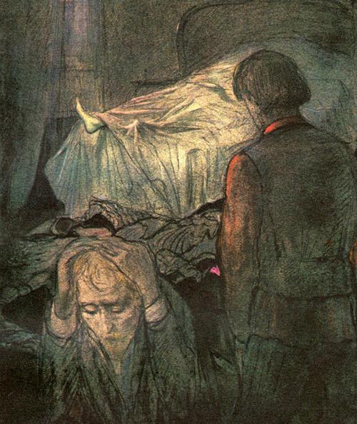 #Resim |The Death of Nastasya Filippovna - Ilya Glazunov