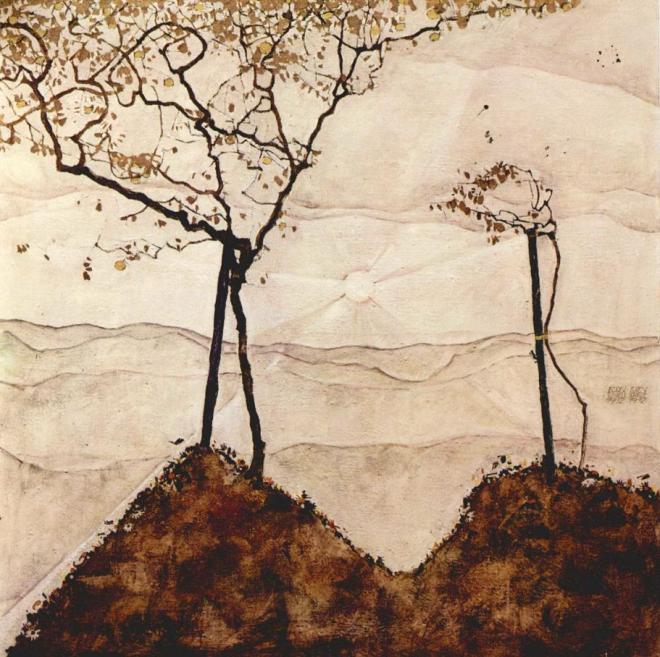 #Resim | Egon Schiele- Autumn Sun and Trees