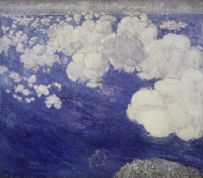 #Resim |Boris Anisfeld - Clouds Over the Black Sea, Crimea